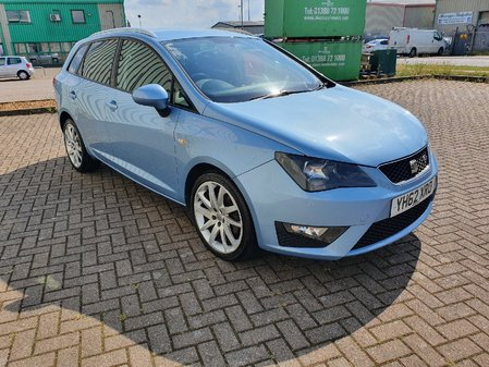 SEAT IBIZA 1.6 TDI CR FR 5 DOOR MANUAL DIESEL ESTATE IN BLUE