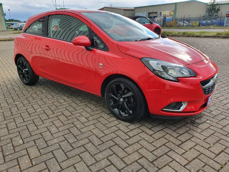 View VAUXHALL CORSA 1.4 ECOFLEX SRi 3 DOOR MANUAL PETROL IN RED