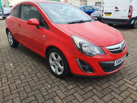 VAUXHALL CORSA 1.2 SXI 3 DOOR MANUAL PETROL IN RED