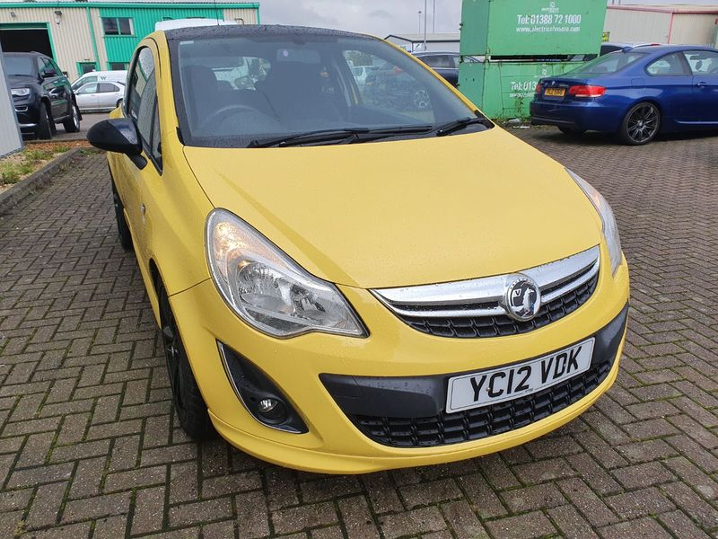 View VAUXHALL CORSA 1.2 LIMITED EDITION 3 DOOR MANUAL PETROL IN YELLOW