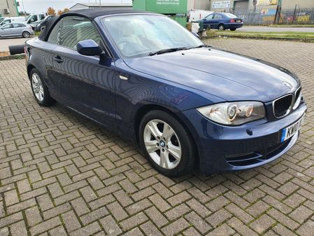 BMW 1 SERIES 118D SE 3 DOOR AUTO DIESEL CONVERTIBLE IN BLUE